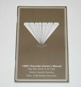 1985-Chevrolet-Camaro-Factory-Original-Owners-Manual-NOS-NEW-GM