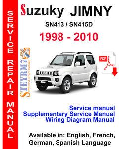 suzuki jimny service manual 1998 2010 3 in 1 manual sn413 sn415d rh ebay co uk suzuki jimny manual greek suzuki jimny manual transmission pdf