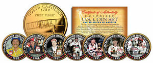 DALE-EARNHARDT-7-Time-Champ-24K-Gold-Plated-North-Carolina-Quarters-7-Coin-Set