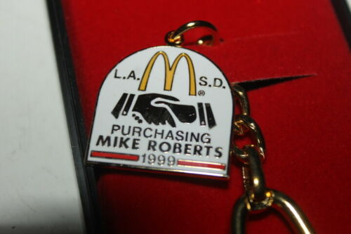 Details about  /L.A .S.D MCDONALDS PURCHASING MIKE ROBERTS 1999 KEY CHAIN SY3