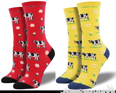 Womens Quality Socksmith 'legendairy' Design Socks One Size Dairy Cow Lover Gift Socken & Strümpfe