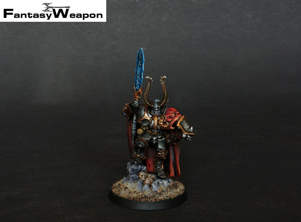Chaos  Lord   Pro Painted   slaves of darkness Age of Sigmar warhammer