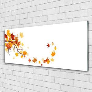 Impression sur verre acrylique Image tableau 125x50 Art Feuilles