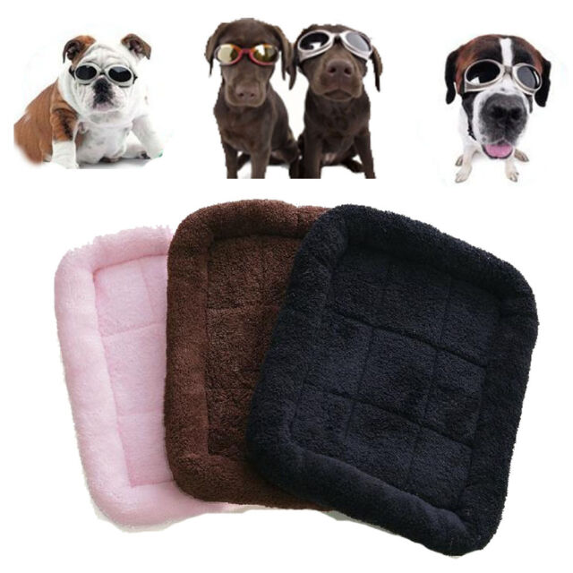 New Pet Dog Puppy Cat Bed Warm Soft Mat for Crate Kennel Winter S M Size