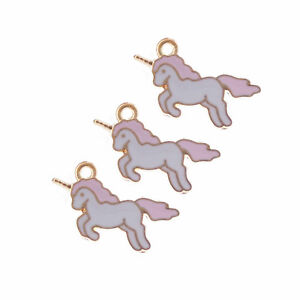 20pcs-Jewelry-Making-Enamel-Alloy-Colorful-Unicorn-Pendants-Charms-Crafts-53294