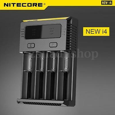 Nitecore 2016 NEW I4 Smart Battery Charger 4-slot Li-ion 18650 26650 AAA Ni-MH