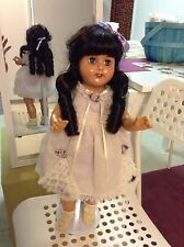 """18"""" Vintage Effanbee Rose Mary Doll Green Eyes # PA-4751 with stand"""