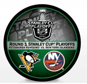 2021 STANLEY CUP PLAYOFFS NY ISLANDERS PENGUINS 1ST FIRST ROUND PUCK NHL DUELING
