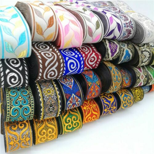 Vintage Ethnic Embroidery Lace Ribbons 3 Yards//lot Sewing Craft Accessories New