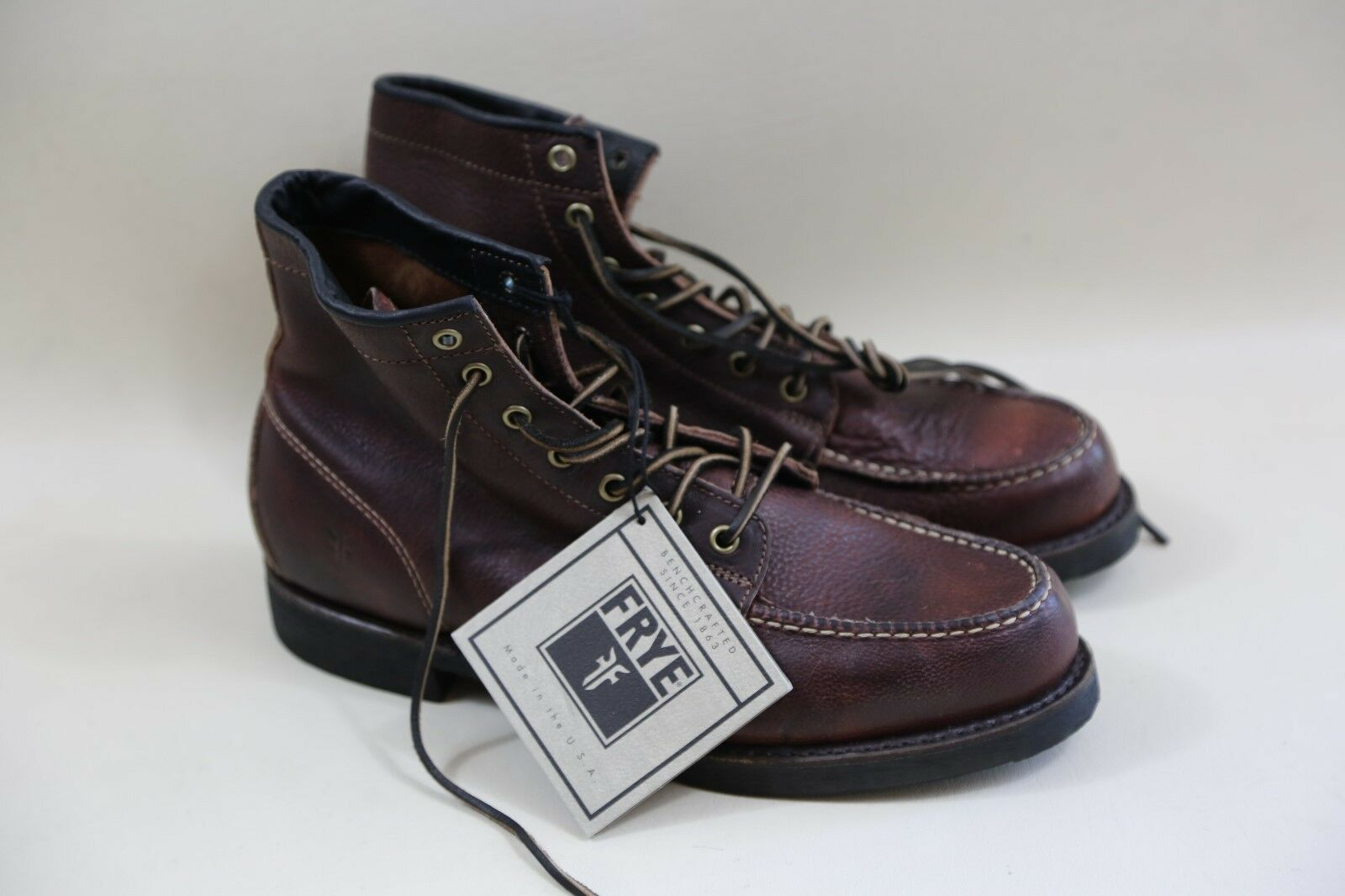 FRYE Logger Lace up Stiefel Größe 8.5 MADE IN USA