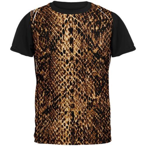Halloween Desert Brown Snake Snakeskin Costume All Over Mens Black Back T Shirt