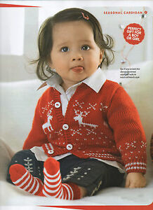 Christmas Knitting Patterns For Babies.Details About Baby Christmas Winter Kids Cardigan 99p Knitting Pattern