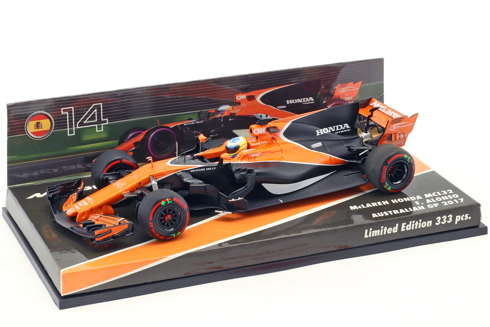 Fernando alonso mclaren mcl32 australia gp fórmula 1 2017 1 43 Minichamps