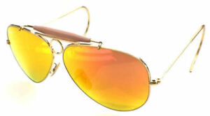 9f35ef2d7d Image is loading RAY-BAN-3138-58-SHOOTER-GOLD-GOLD-AUCTION-