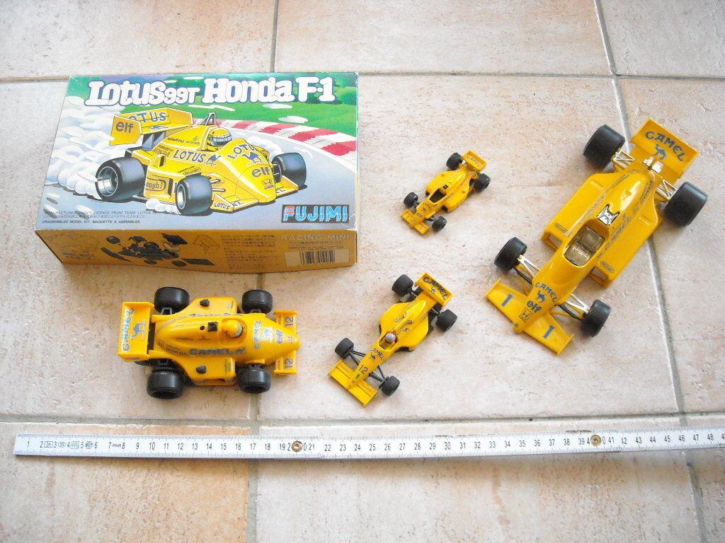 CAMEL - Team Lotus - Honda - 4 cars - Bburago - Onyx - Fujimi - Tomica