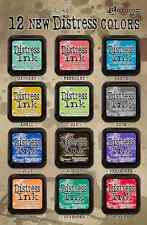 Tim Holtz Color of the Month 12 Distress Ink Stamp Pads NEW Lot  FULL SET