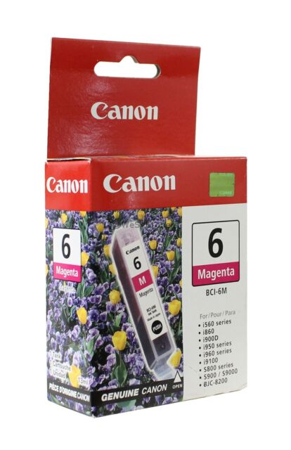 Canon BCI-6M Magenta Ink Cartridge 4707A003 Genuine New (1-3 Pack)