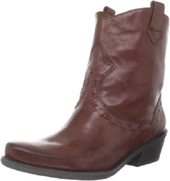 FRANCO SARTO Window 2 Nutmeg Leather Rider ANKLE Western BOOTS Womens 6 NEW