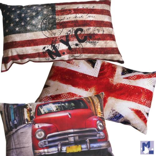 Stars Stripes oder Car NEU Kissen BRONCO Serie 3 Varianten wählbar Union Jack