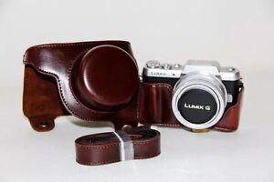 Detachable-PU-Leather-Camera-Case-Bag-Cover-For-Panasonic-Lumix-GF7-GF8-w-Strap