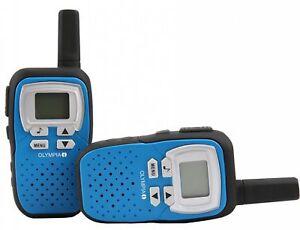 OLYMPIA Walkie Talkie Handfunkgeräte Set PMR Modell 1208, 8 km Reichweite, Blau