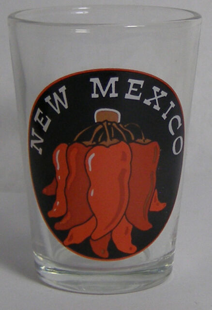New Mexico Red Peppers Shot Glass #3087