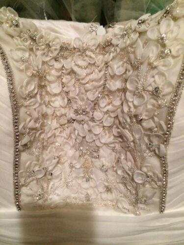 Ivory Strapless Nwt1 Silk Formele Organza Jurk Maat 000 Embellished 6 Theia wOk0P8n