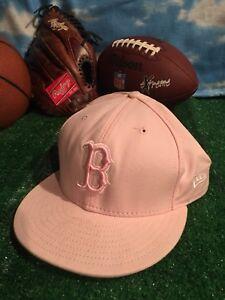 375d2c563bb Boston Red Sox MLB New Era Baseball Hat Cap 59Fifty Size 7 3 4 Pink ...