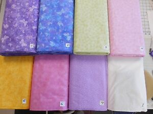 Quilting-filler-small-print-calico-100-cotton-woven-fabric-pastels-1-yd-x-44-034-w