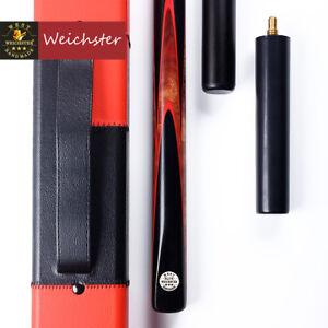 Weichster-One-1Piece-Handmade-English-Pool-Cue-Eucalyptus-Burl-Wood-8-0mm-8-5mm
