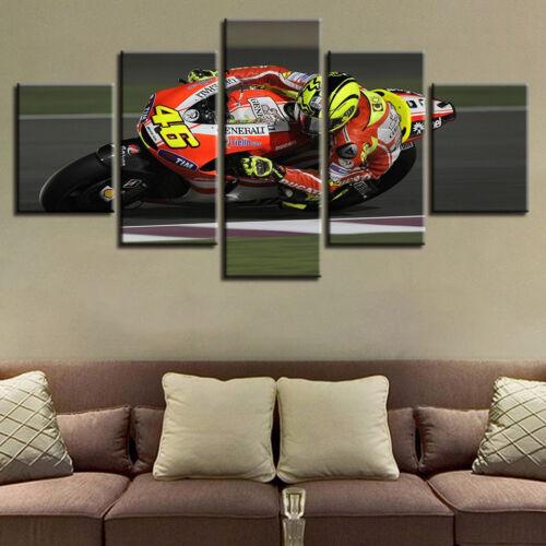Valentino Rossi's Ducati GP11 5 Piece Canvas Print Wall Art