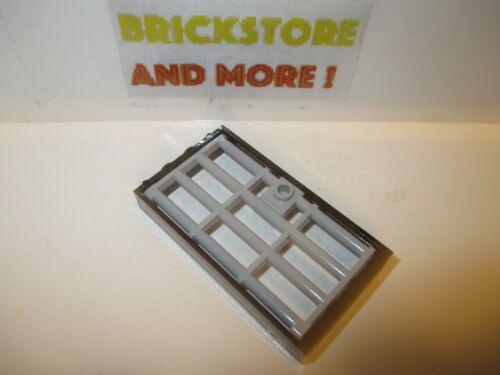 1x Door Porte Porta Tür 1x4x6 Grille 60596 Lego 60621 Black//Light Gray