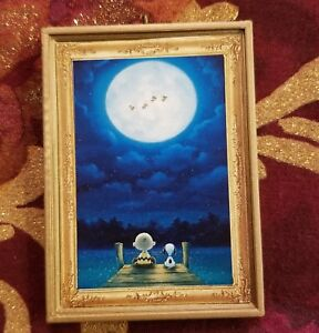 I Love You To The Moon /& Back Snoopy Christmas Ornament//Magnet//Dollhouse Mini