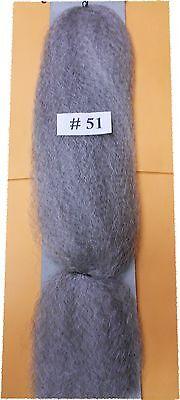 100% kanekalon braid hair dreadlock # 51 sliver gray