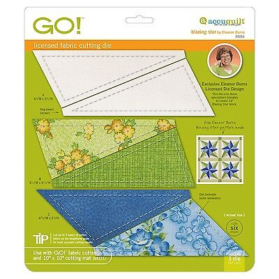 "AccuQuilt GO Fabric Cutter Cutting Die Blazing Star-6"" Finished by Eleanor Burns"