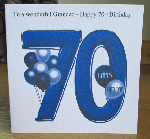 Personalised Handmade Balloons 70th Birthday Card Dad Grandad