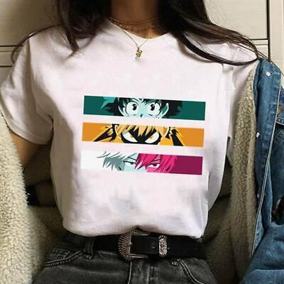 Anime My Hero Academia T-Shirt Short Sleeve Cartoon Funny Tee Shirt Tops F Nice