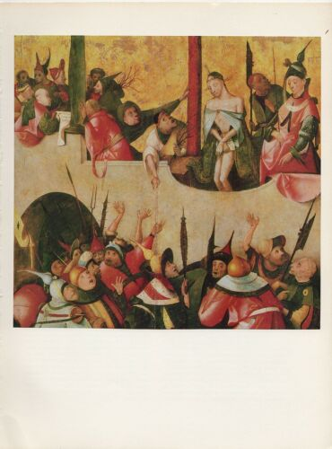 "1971 Vintage HIERONYMUS BOSCH /""ECCE HOMO #2/"" JESUS CHRIST COLOR Art Lithograph"