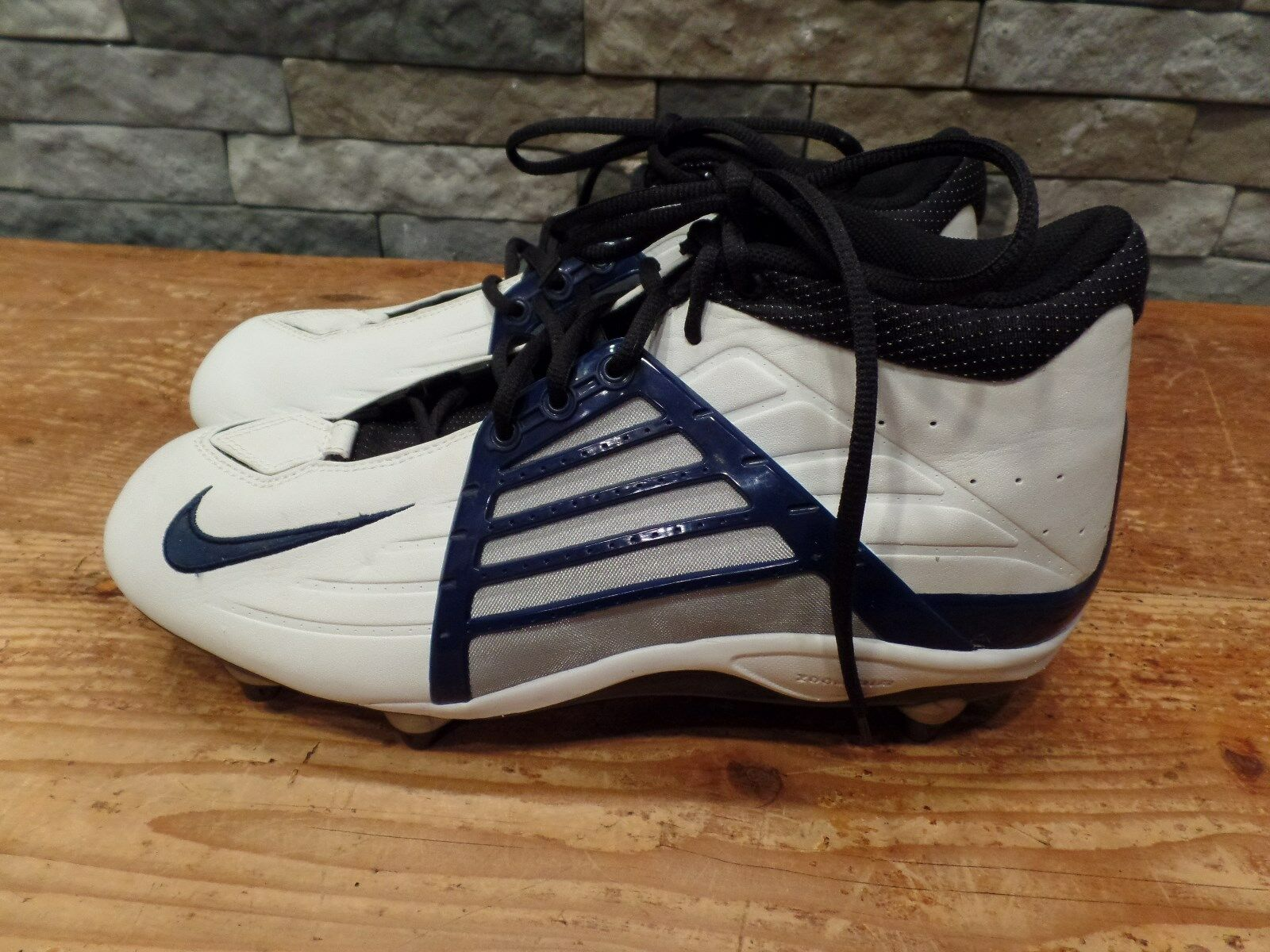 Nike Air Zoom Impact Football Cleats Alpha Project Navy Nice White Men's Size 12 Nice Navy 251733