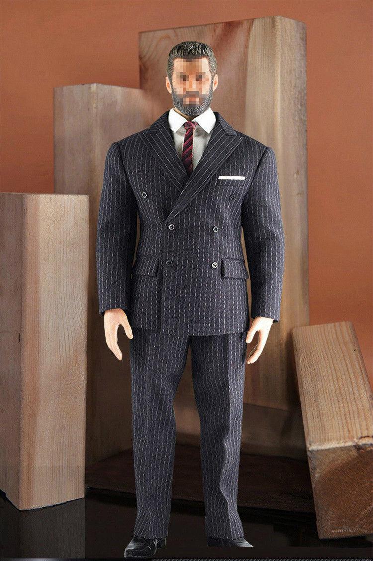 1 6 Classic Business Suit scarpe Set For 12  PHICEN TBL M34 M35 Muscular Figure