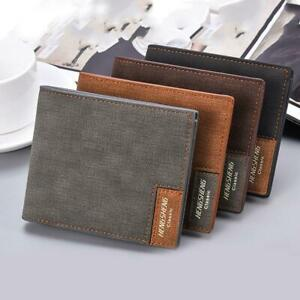 best place best choice price reduced Details about Mens Leather Slim Bifold Credit ID Card Holder Slim Wallet  Billfold Purse Clutch