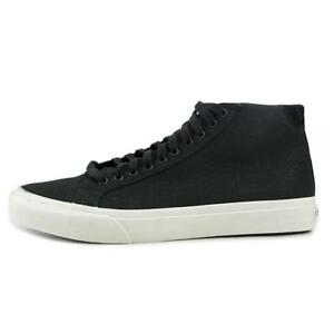 3bad69ef9a Vans Court Mid Men Round Toe Canvas Black Skate Shoe Size 7