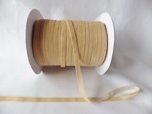 5m x 6mm Velvet Ribbon : Caramel