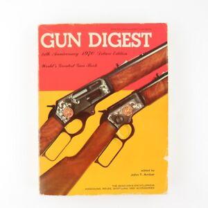 1970 Gun Digest Deluxe Ed 24th Anniversaire John T Amber Shooter's Encyclopedia-afficher Le Titre D'origine