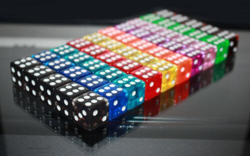 5 x Casino Würfel-Dice-W6-Augen-tranparent-Craps shooting-Glücksspiel-Las Vegas