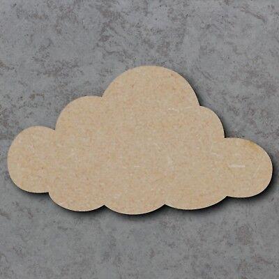 Personalised Large MDF Wooden Laser Cut Cloud Craft Shape  Unpainted 20,30 40cm