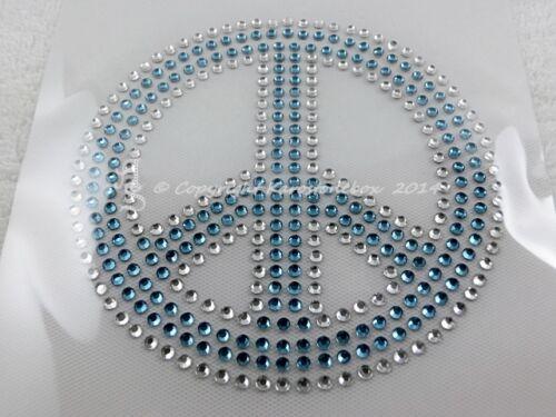 Hotfix Strass Bügelbild Peace 110419 Farbwahl clear gef Farbe Karostonebox