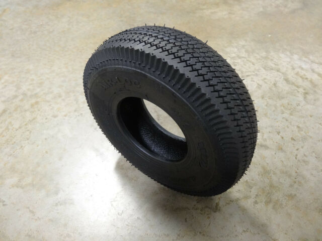 TWO New 4.10//3.50-4 Air-Loc Sawtooth Tires with TR87 bent stem Tubes
