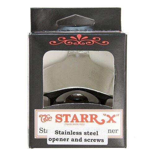 Stainless Steel Regular Starr X Wall Mount Stationary Bottle Opener ~ New