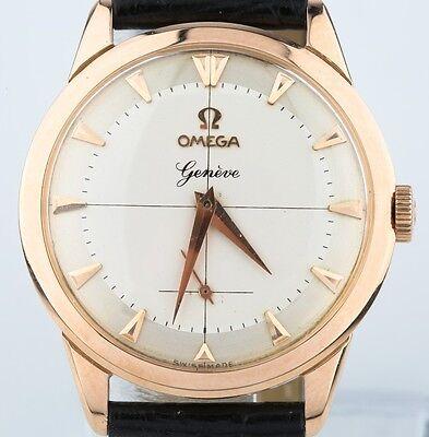 Omega 18k Rose Gold Vintage 1960 Watch 17 Jewels Calibre 267 Excellent condition